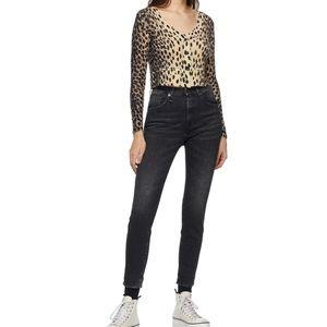 R13 Women's Black Kate Skinny Jeans Size 25